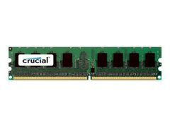 CRUCIAL DDR2 - 2 GB - DIMM 240-pin - 667 MHz / PC2-5300 - CL5 - 1.8 V - ikke-bufret - ECC