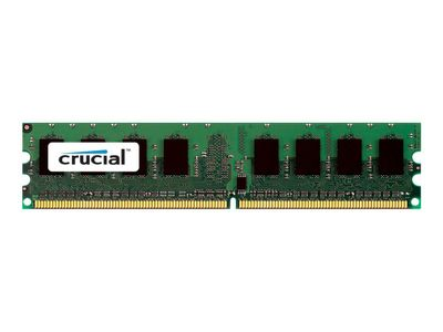 Crucial DDR2 - 2 GB - DIMM 240-pin - 667 MHz / PC2-5300 - CL5 - 1.8 V - ikke-bufret - ECC (CT25672AA667A)