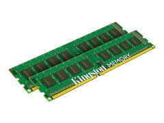 Kingston ValueRAM - DDR3 - 8 GB: 2 x 4 GB - DIMM 240-pin - 1333 MHz / PC3-10600 - CL9 - 1.5 V - ikke-bufret - ikke-ECC