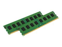 Kingston ValueRAM - DDR3 - sett - 16 GB: 2 x 8 GB - DIMM 240-pin - 1600 MHz / PC3-12800 - ikke-bufret