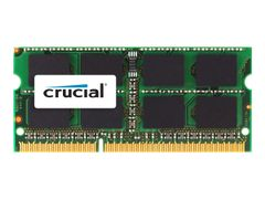 CRUCIAL DDR3 - 8 GB - SO DIMM 204-pin - 1600 MHz / PC3-12800 - CL11 - 1.35 / 1.5 V - ikke-bufret - ikke-ECC - for Apple Mac mini (Sent i 2012); MacBook Pro