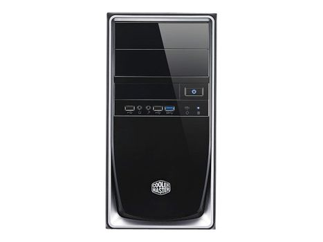 Cooler Master Elite 344 - Mini tower - mini ITX / micro ATX - ingen strømforsyning (ATX / PS/2) - svart, sølv - USB/lyd (RC-344-SKN2)