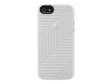Belkin Flex Case - Eske for mobiltelefon - silikon - blank, svarttopp (en pakke 2) - for Apple iPhone 5