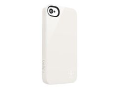 Belkin Shield - Eske for mobiltelefon - polykarbonat - hvit - for Apple iPhone 5