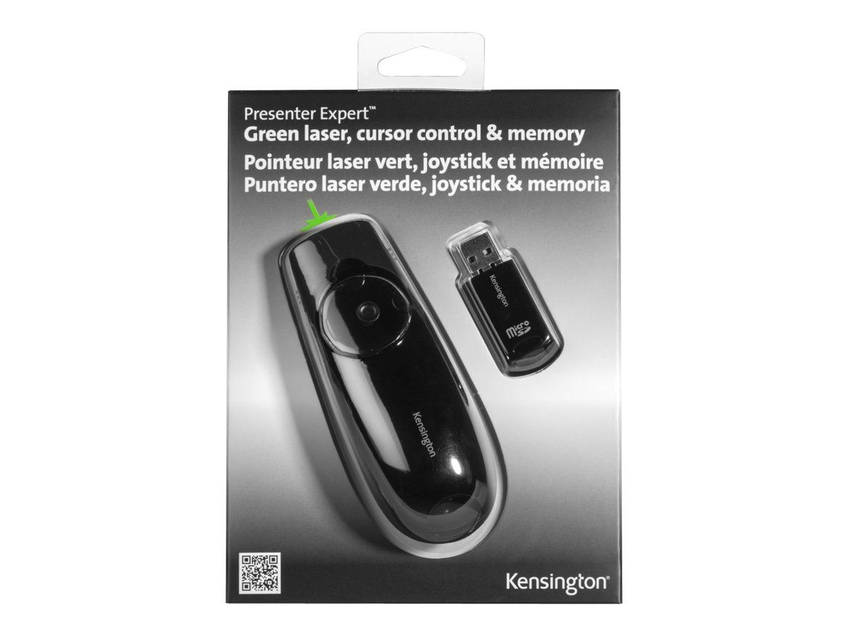 KENSINGTON Presenter Expert Green Laser Presenter with Cursor Control and Memory presentasjonsfjernstyring - svart (K72427EU)