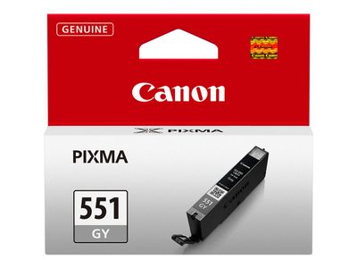 Canon CLI-551GY - 7 ml - grå - original - blekkbeholder - for PIXMA iP8750, iX6850, MG5655, MG6350, MG7150, MG7150 MONSTER UNIVERSITY Edition, MG7550 (6512B001)