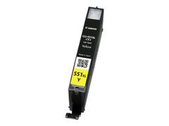 Canon CLI-551Y XL - 11 ml - Høy ytelse - gul - original - blekkbeholder - for PIXMA iP8750, iX6850, MG5550, MG5650, MG5655, MG6450, MG6650, MG7150, MG7550, MX725, MX925