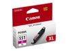 Canon CLI-551M XL - 11 ml - Høy ytelse - magenta - original - blekkbeholder - for PIXMA iP8750, iX6850, MG5550, MG5650, MG5655, MG6450, MG6650, MG7150, MG7550, MX725, MX925 (6445B001)