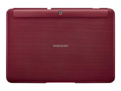 "Samsung Book Cover EFC-1H8S - Lommebok for nettbrett - granatrød - 10.1"" - for Galaxy Tab 2 (10.1), Tab 2 (10.1) WiFi (EFC-1H8SRECSTD)"