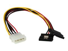 StarTech 12in LP4 to 2x Latching SATA Power Y Cable Splitter Adapter - 4 Pin LP4 to Dual SATA Y Splitter - strømadapter - 4-pin intern strøm til SATA-strøm - 30 cm