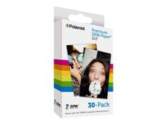 POLAROID Premium ZINK Paper - Selv-adhesiv - hvit - 50.8 x 76.2 mm 30 ark fotopapir - for Polaroid Snap Instant, Snap Touch; Mint 2-in-1