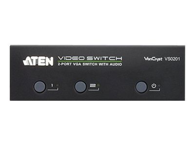 ATEN VanCryst VS0201 - video/ audio switch - 2 porter (VS0201-AT-G)