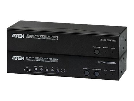 ATEN CE 775 Local and Remote Units - KVM / lyd / seriellutvider (CE775-AT-G)