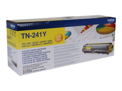 Brother TN241Y - Gul - original - tonerpatron - for Brother DCP-9015, DCP-9020, HL-3140, HL-3150, HL-3170, MFC-9140, MFC-9330, MFC-9340 (TN241Y)