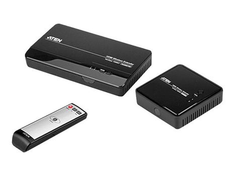 ATEN VE809 HDMI Wireless Extender (transmitter and receiver) - video/ lyd-forlenger - HDMI (VE809-AT-G)