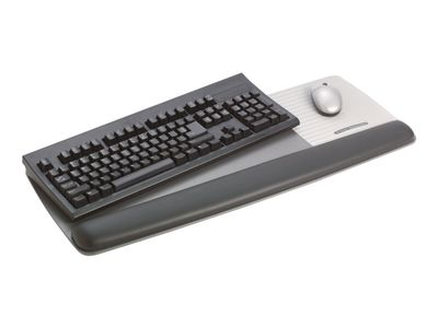 3M Adjustable Gel Wrist Rest for Keyboard and Mouse WR422LE - Tastatur- og museplatform med håndleddspute - svart (FT600003279)