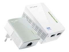 TP-Link TL-WPA4220KIT AV500 2-Port Wifi Powerline Adapter Starter Kit - bro - 802.11b/g/n - veggpluggbar