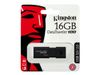 Kingston DataTraveler 100 G3 - USB-flashstasjon - 16 GB - USB 3.0 - svart (DT100G3/16GB)