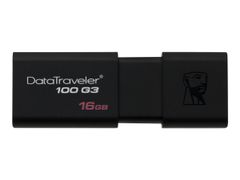 Kingston DataTraveler 100 G3 - USB-flashstasjon - 16 GB - USB 3.0 - svart
