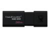 Kingston DataTraveler 100 G3 - USB-flashstasjon - 32 GB - USB 3.0 - svart (DT100G3/32GB)