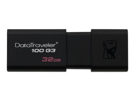 Kingston DataTraveler 100 G3 - USB-flashstasjon - 32 GB - USB 3.0 - svart