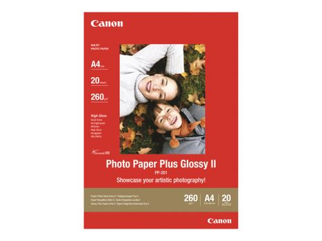 Canon Photo Paper Plus Glossy II PP-201 - fotopapir - 20 ark - 130 x 180 mm - 260 g/m²