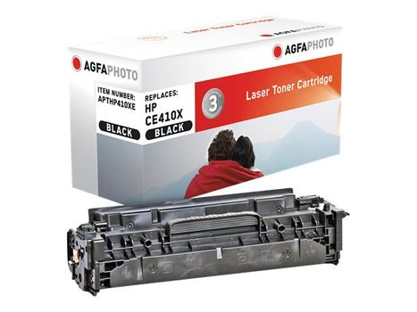AGFAPHOTO Svart - tonerpatron (alternativ for: HP 305X, HP CE410X) - for LaserJet Pro 300 color M351a, 300 color MFP M375nw, 400 color M451, 400 color MFP M475