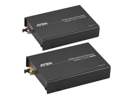 ATEN VanCryst VE882 HDMI Optical Extender Transmitter and Receiver Units - video/ lyd/ infrarød/ seriell-utvider - HDMI (VE882-AT-G)