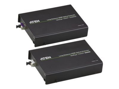ATEN VanCryst VE892 Long Distance HDMI Optical Extender Transmitter and Receiver Units - video/ lyd/ infrarød/ seriell-utvider - HDMI (VE892-AT-G)