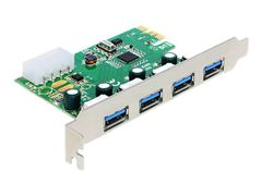 DELOCK PCI Express Card > 4 x external USB 3.0 - USB-adapter - PCIe 2.0 - USB 3.0 x 4