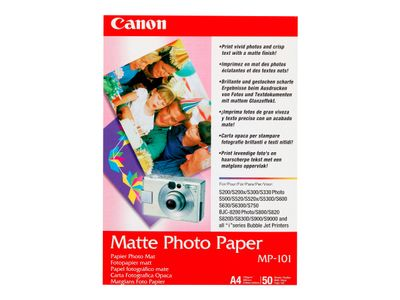 Canon MP-101 - Matt - A4 (210 x 297 mm) 50 ark fotopapir - for PIXMA iP90, iX7000, MG8250, MP490, MP510, MP550, MP560, MP960, MX330, PRO-1, PRO-10, 100 (7981A005)