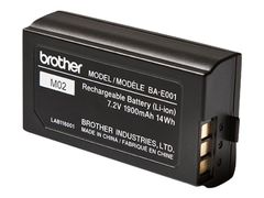 Brother BA-E001 - Skriverbatteri - 1 x litiumion - for P-Touch PT-750, E300, E500, E550, H300, H500, H75, P750; P-Touch EDGE PT-P750