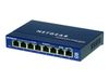 NETGEAR GS108 - Switch - 8 x 10/ 100/ 1000 - stasjonær (GS108GE)