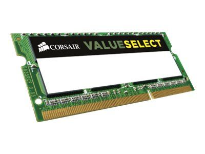 Corsair Value Select - DDR3L - 8 GB: 2 x 4 GB - SO DIMM 204-pin - 1600 MHz / PC3-12800 - CL11 - 1.35 / 1.5 V - ikke-bufret - ikke-ECC (CMSO8GX3M2C1600C11)