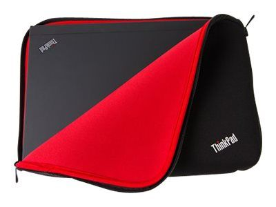 """Lenovo ThinkPad Fitted Reversible Sleeve - Notebookhylster - 14"""" - svart, rød - for ThinkPad A475; A485; E46X; E470; L460; L470; L480; P40 Yoga; T25; T460; T470; T480 (4X40E48910)"""