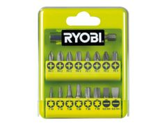 RYOBI RAK17SD - Spissett for skrutrekker - 17 deler - torx, phillips, pozidriv, slot - lengde: 25 mm