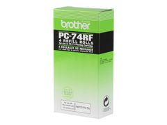 Brother PC74RF - 4 - skriverbånd - for FAX-T104, T106, T74, T76, T78