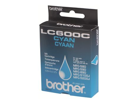 Brother LC600C - Cyan - original - blekkpatron - for Brother MFC-580, MFC-590 (LC600C)