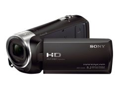 Sony Handycam HDR-CX240E - Videoopptaker - 1080 p - 2.51 MP - 27optisk x-zoom - Carl Zeiss - flashkort - svart