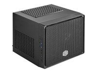 Cooler Master Elite 110 - Ultraliten formfaktor - mini-ITX (ATX / PS/2) - midnatts sort - USB/lyd