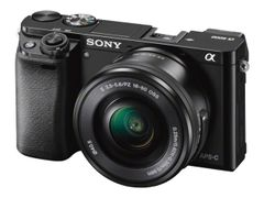 Sony a6000 ILCE-6000Y - Digitalkamera - speilløst - 24.3 MP - APS-C - 3optisk x-zoom linser på 16-50 mm og 55-210 mm - Wi-Fi, NFC - svart