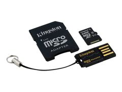Kingston Multi-Kit / Mobility Kit - Flashminnekort (microSDXC til SD-adapter inkludert) - 64 GB - UHS Class 1 / Class10 - microSDXC UHS-I - med USB Reader