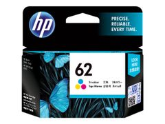 HP 62 - 4.5 ml - fargebasert trikolor - original - blekkpatron - for Envy 55XX, 56XX, 76XX; Officejet 250, 252, 57XX, 8040