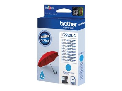 Brother LC225XLC - Cyan - original - blekkpatron - for Brother DCP-J4120,  MFC-J4420,   J4620, J5320, J5625, J5720; Business Smart MFC-J4420,   J4620 (LC225XLC)