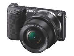 Sony a5100 ILCE-5100Y - Digitalkamera - speilløst - 24.3 MP - APS-C - 3optisk x-zoom linser på 16-50 mm og 55-210 mm - Wi-Fi, NFC - svart