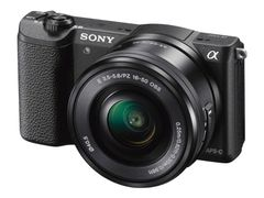 Sony a5100 ILCE-5100L - Digitalkamera - speilløst - 24.3 MP - APS-C - 3optisk x-zoom 16-50 mm-linse - Wi-Fi, NFC - svart