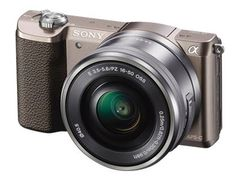 Sony a5100 ILCE-5100L - Digitalkamera - speilløst - 24.3 MP - APS-C - 3optisk x-zoom 16-50 mm-linse - Wi-Fi, NFC - brun