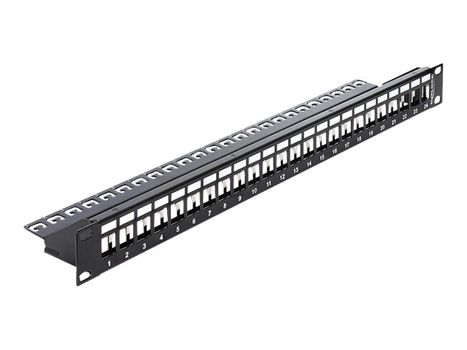 DELOCK Keystone Patch Panel - koblingspanel - 1U - 19""