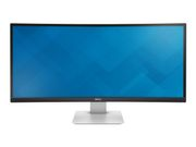 "DELL UltraSharp U3415W - LED-skjerm - kurvet - 34"" (34"" synlig) - 3440 x 1440 - IPS - 300 cd/m² - 1000:1 - 5 ms - 2xHDMI, DisplayPort,   Mini DisplayPort,   MHL - høyttalere - svart - med 3-års Advance Exchang (210-ADYS)"