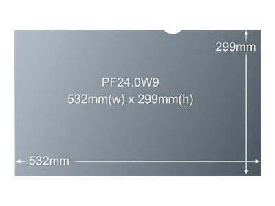 """3M personvernfilter for 24"""" widescreen - personvernfilter for skjerm - 24"""" (PF24.0W9)"""